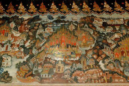 Painting about Buddha