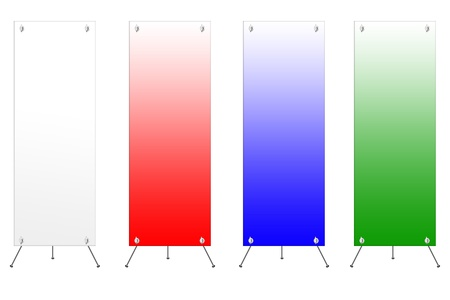 banner display template for work Stock Photo