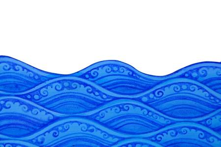 waves pattern of thai art withe bg 版權商用圖片