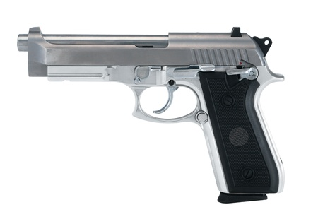 firearm in white background Stock Photo
