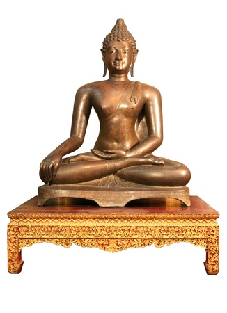 Meditation buddha in whiet background  photo