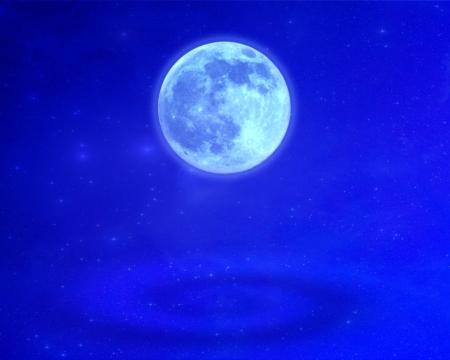 blue moon and blue sky