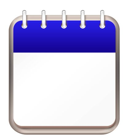 calendar blue template Stock Photo - 16261249