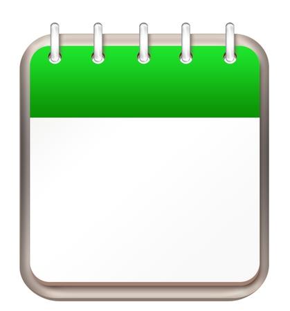 calendar green template