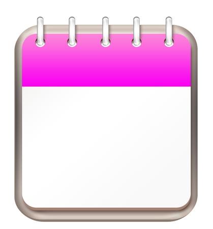 calendar pink template
