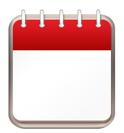 meses del a�o: calendario plantilla rojo Foto de archivo
