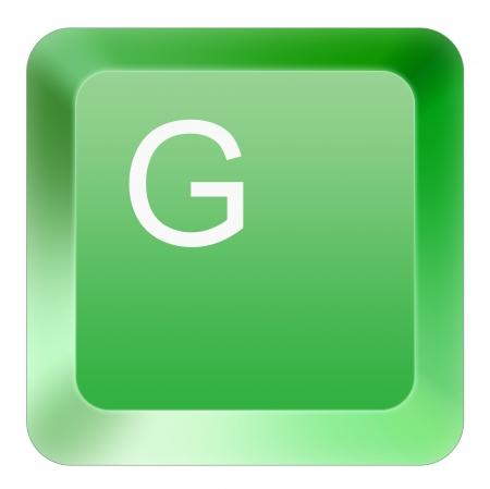 keyboard G button green