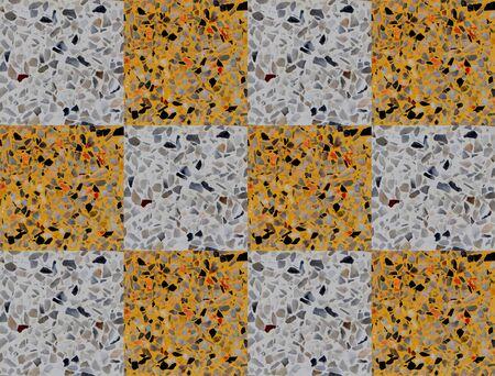 Terrazzo floor yellow and white