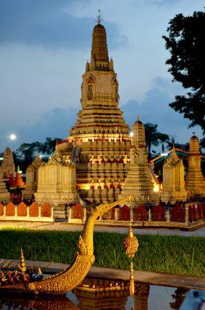 Swan boat and Wat Arun simulation Stock Photo - 18159302