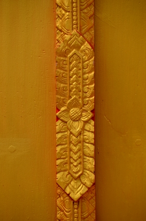 Thai Buddhist temple gold background Stock Photo - 18159301