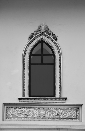 Church window monochrome photo