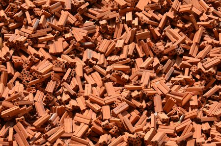 Stack of bricks background Stock Photo - 18570628
