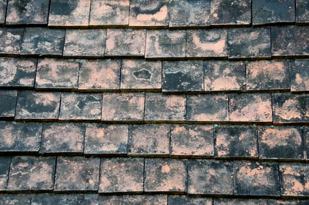 Old Slate Roof background