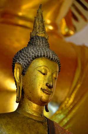 malaisia: Old gold Buddha Stock Photo