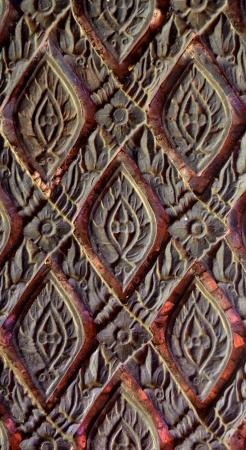 wood carving thai wall