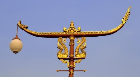 Ornamental light dragon boat Thai art