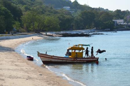 Fishing boats along the coast Stock Photo - 18819719