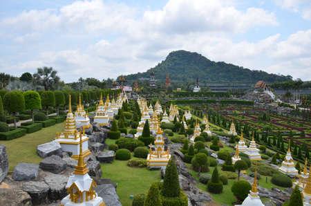 Pagoda Buddhist Garden Stock Photo