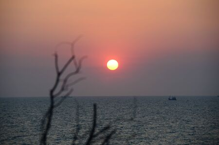 Sunset at Beach Khosichang Thai photo