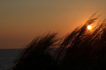 Sunset at Khosichang Beach Thai Stock Photo - 18819529