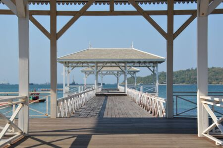Wood bridge on the sea Stock Photo - 18819554