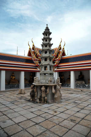 Pagoda of Chinese style at Wat pho, Bangkok, photo