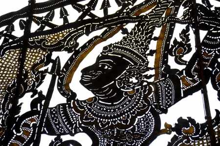 Shadow thai art background photo