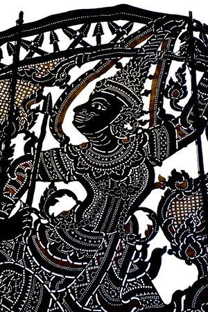 shadow puppet: Thai shadow art background
