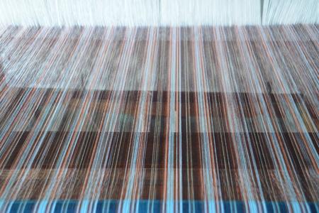loom: Thai silk on a loom