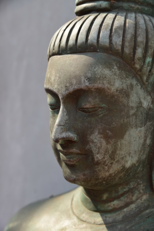 Buddha beautiful face Stock Photo