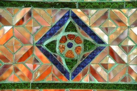 Mosaic background, Thai style