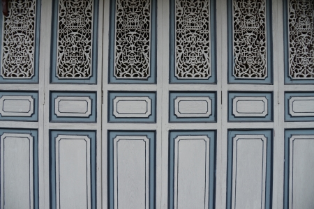 chinoiserie: Chinoiserie Wood Blue Background