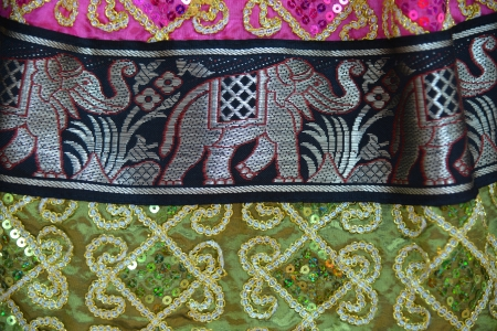 Colorful fabrics of Thailand