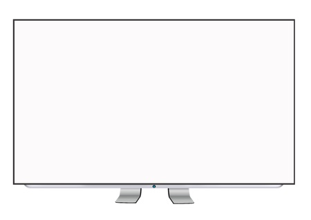 Smart TV display isolated on white photo