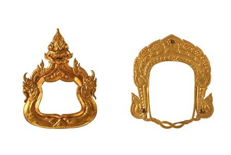 Brass frame thai style Stock Photo