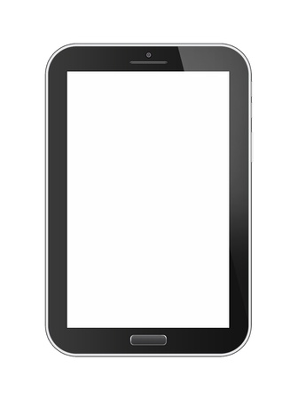 Phone tablet isolated on white background photo