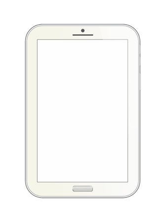 Phone tablet on white background photo