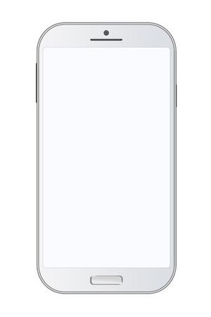 Mobiles à écran tactile sur fond blanc Banque d'images