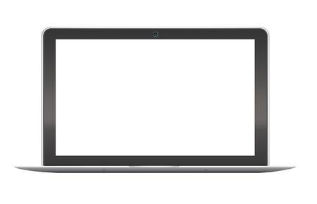 Moderne laptop op witte achtergrond