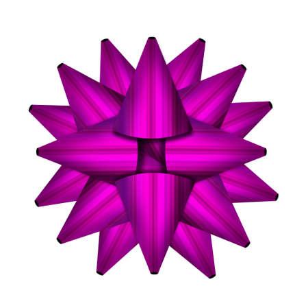 Purple bow  isolated on white background