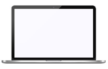 Portátil moderno aislado sobre fondo blanco Foto de archivo