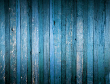 Wooden fence blue