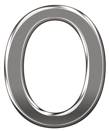 Metal Letter O chrome alphabe  isolated on white background Banco de Imagens