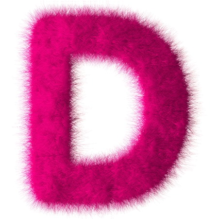 Pink shag A letter isolated on white background