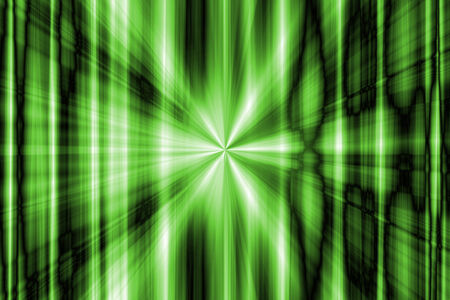 Abstract green rays background Stock Photo