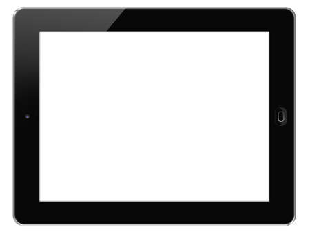 Touch Screen Tablet  isolated on white