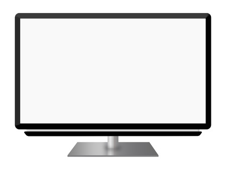 Widescreen led or lcd  tv monitor isolated on white background