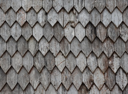 cedar shakes: Old wooden roof background Stock Photo