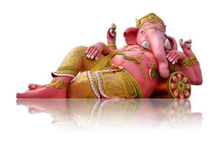 lord ganesha: Ganesha statue on white background
