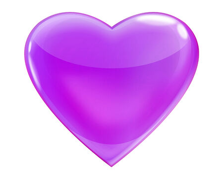 Glossy purple heart